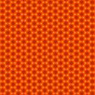 Golden Orange Honeycomb Hexagon Pattern by Shelley Neff