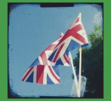 Flags - Union Jacks in a blue sky Baby Tee
