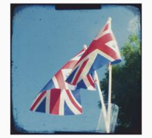Flags - Union Jacks in a blue sky Kids Clothes