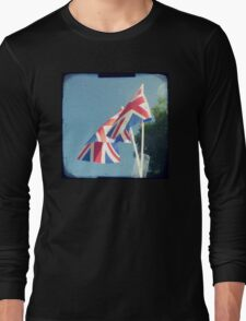 Flags - Union Jacks in a blue sky Long Sleeve T-Shirt