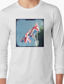 Flags - Union Jacks in a blue sky Long Sleeve T-Shirt