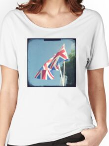 Flags - Union Jacks in a blue sky Women's Relaxed Fit T-Shirt