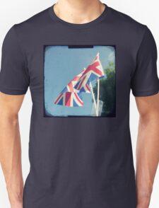 Flags - Union Jacks in a blue sky Unisex T-Shirt