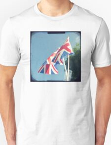 Flags - Union Jacks in a blue sky T-Shirt