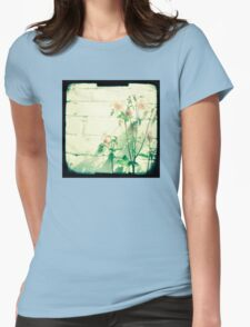 Pink petals Womens Fitted T-Shirt
