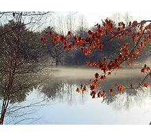 Mist of the river Photographic Print