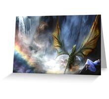 Water Dragon Falls Greeting Card