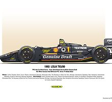 #1 LOLA - 1993 - T9300 - Rahal by Evan DeCiren