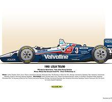 #3 LOLA - 1993 - T9300 - Al Unser Jr by Evan DeCiren
