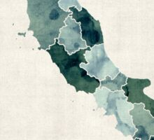 Watercolor Map of Italy Sticker