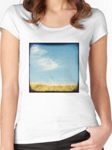Beach grass Women's Fitted Scoop T-Shirt