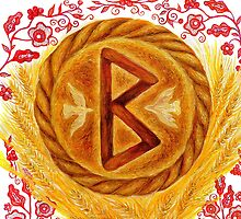 Berkanan - The Rune of Growth and Fertility by artcombinat