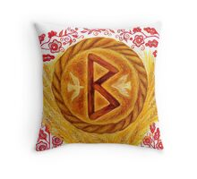Berkanan - The Rune of Growth and Fertility Throw Pillow