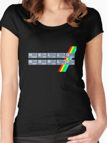 Hello Spectrum World Women's Fitted Scoop T-Shirt