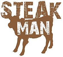 Steak Man with little cow Photographic Print