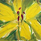 Yellow FLower - Acrylic on Canvas - 5 x 7 in - FOR SALE - $ 75 by Elle Gamboa