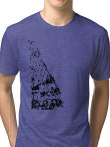 Fence print Tri-blend T-Shirt
