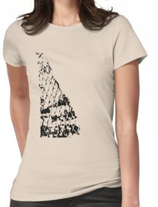 Fence print Womens Fitted T-Shirt