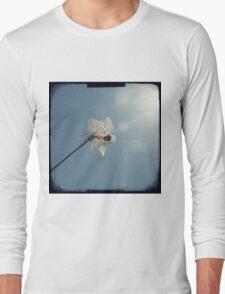 Windmill in a blue sky Long Sleeve T-Shirt