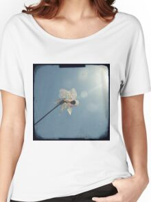 Windmill in a blue sky Women's Relaxed Fit T-Shirt