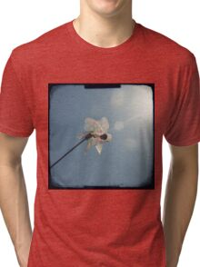 Windmill in a blue sky Tri-blend T-Shirt