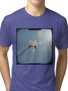 Windmill in a blue sky Tri-blend T-Shirt