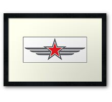 Military star with wings Framed Print
