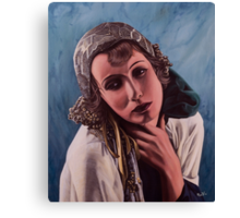 Oil on canvas - Greta Garbo Canvas Print