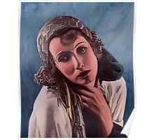 Oil on canvas - Greta Garbo Poster