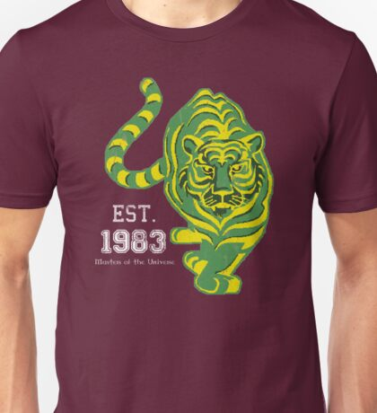 MOTU Battle Cat He-man Cringer 1983 Tiger Green Yellow Stripes Cartoon Action Figure 80s Baby BEST FOR SMALL POUCHES Unisex T-Shirt