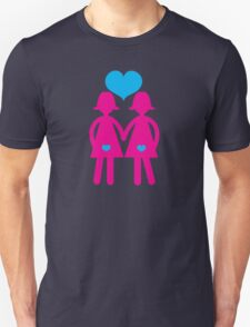 Two ladies hand in hand in love lesbians Unisex T-Shirt