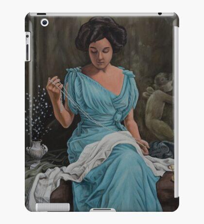 Vintage, Oil painting woman iPad Case/Skin