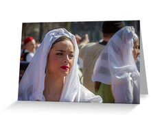 Portrait of a beautiful woman Greeting Card