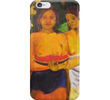 Gauguin's, Two Tahitian Women iPhone Case/Skin