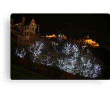 Edinburgh Castle and Christmas trees  Canvas Print