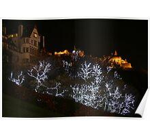 Edinburgh Castle and Christmas trees  Poster