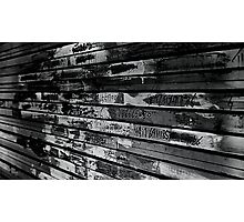 Store door in black and white Photographic Print