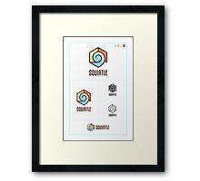 Squirtle Logo Study Framed Print