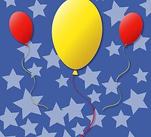 Balloons Birthday Greeting Card by Jacqueline Turton