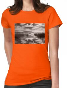 Fisherman between two skies Womens Fitted T-Shirt
