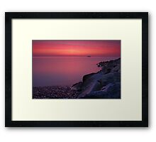 If Columbus Was Wrong I'd Drive Straight Off The Edge Framed Print