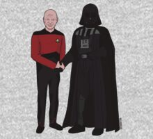 Picard and Vader - Shaking Hands - Can't We All Just Get Along? Kids Clothes