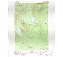 Maine USGS Historical Map Silver Lake 102965 1988 24000 Poster