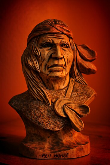 Wooden Portraits: Red Horse by Chintsala