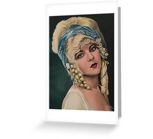 Ziegfeld girl Marion Benda Greeting Card