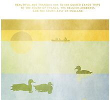 Poster Ducks Floating by Steven House