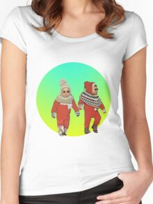 BABY THUGS. Women's Fitted Scoop T-Shirt