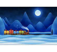 Christmas Train Photographic Print