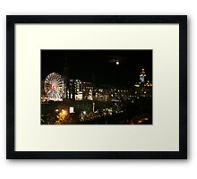 Edinburgh at Christmas and New year Framed Print