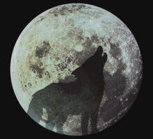 Wolf on the moon Kids Tee